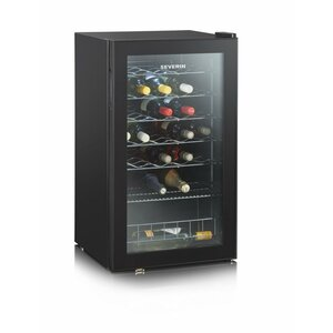Severin KS 9894 wine cooler Compressor wine cooler Freestanding Black 33 bottle(s)