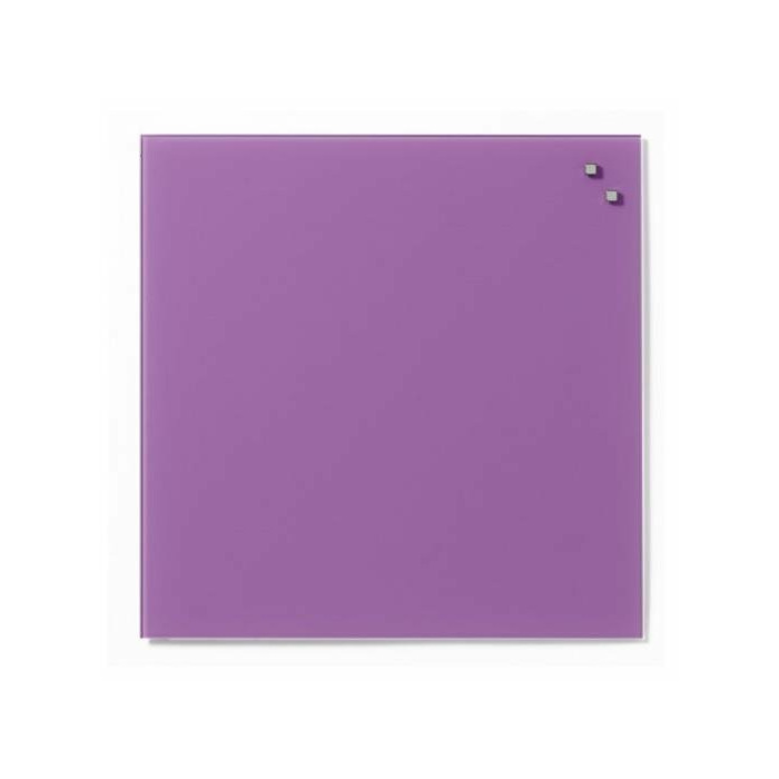 NAGA Magnetic glass board 45x45 cm violet