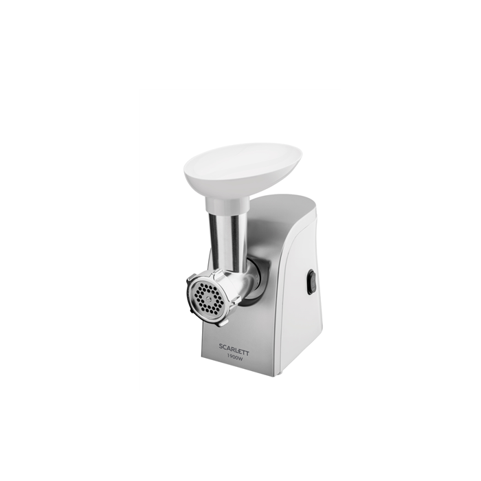 Scarlett Meat Grinder SC - MG45M12  Inox/ white, 1900 W, Number of speeds 1, 2 detachable steel grids with holes 5 and 7 mm