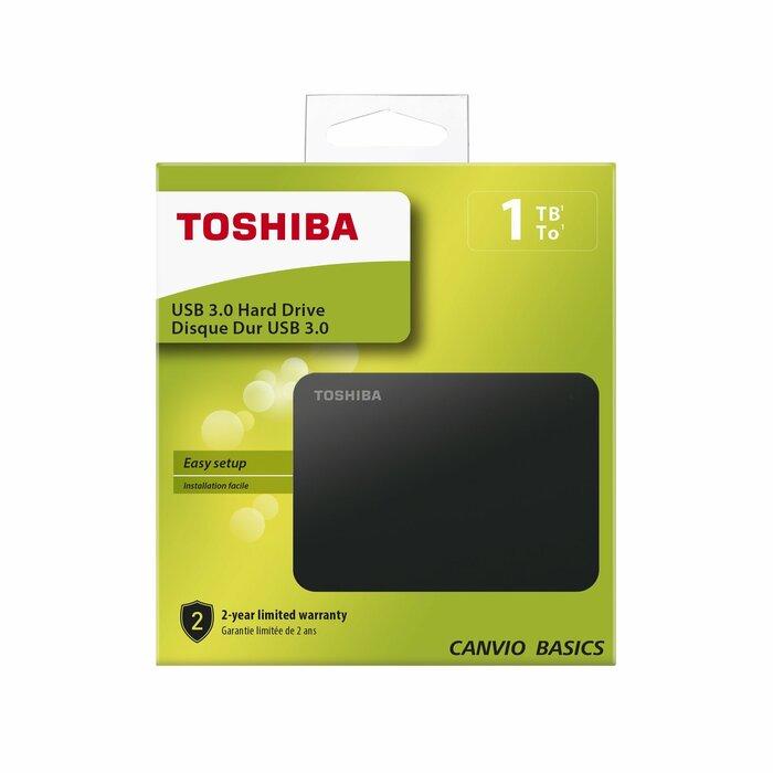 Toshiba Canvio Basics 1 TB Black   HDTB410EK3AA   Внешние жесткие диски