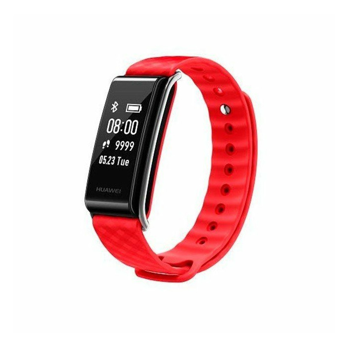 Huawei AW61 Band A2 Fitness Tracker 2in1 Heart Monitor / Watch Bracelet with Oled Display & Touch Panel Red