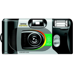 Fujifilm QuickSnap Disposable Camera with flash Marine, No