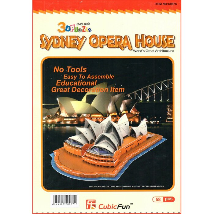 3D Puzzle - Sydney Opera House, 58 Pieces