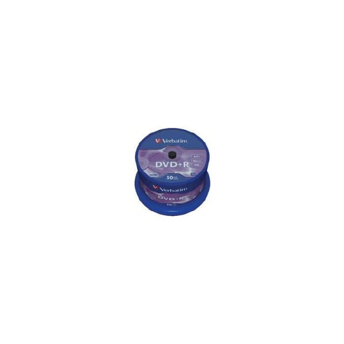 DVD+R Verbatim [ 50pcs, 4.7GB, 16x, spindle, matt silver ] Datalife