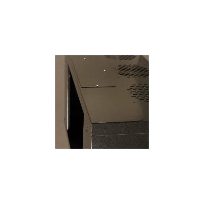 Netrack wall-mounted cabinet 19'', 6U/240 mm, glass door, graphite