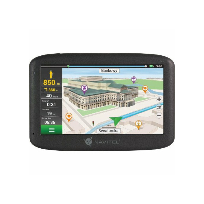 "Navitel Personal Navigation Device E100 Maps included, GPS (satellite), 5"" TFT touchscreen,"