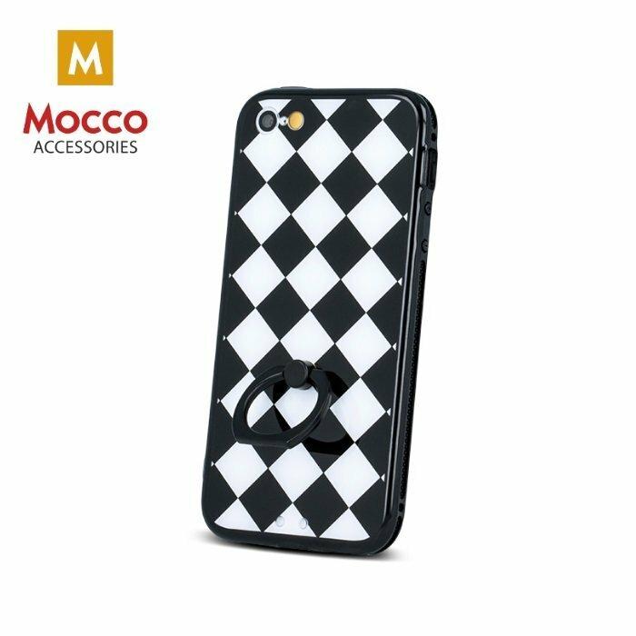 Mocco Grid Ring Silikona Apvalks Priekš Samsung G920 Galaxy S6 Melns - Balts