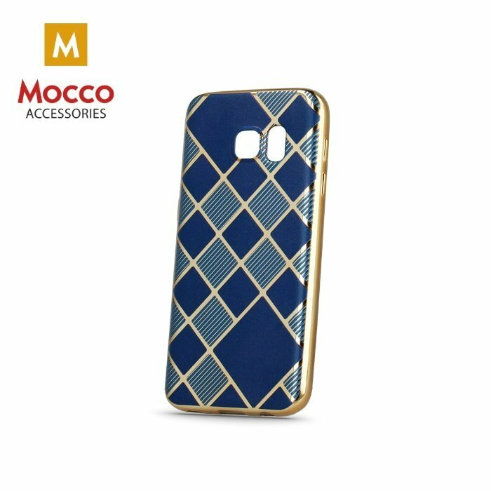 Mocco Geometric Plating Silikona Apvalks Priekš Samsung G920 Galaxy S6 Zils - Zeltains