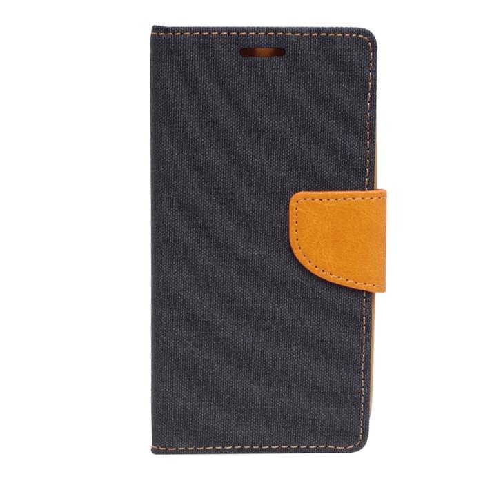 Mocco Canvas Book Case Grāmatveida Maks Telefonam Samsung G920 Galaxy S6 Tumši Zils