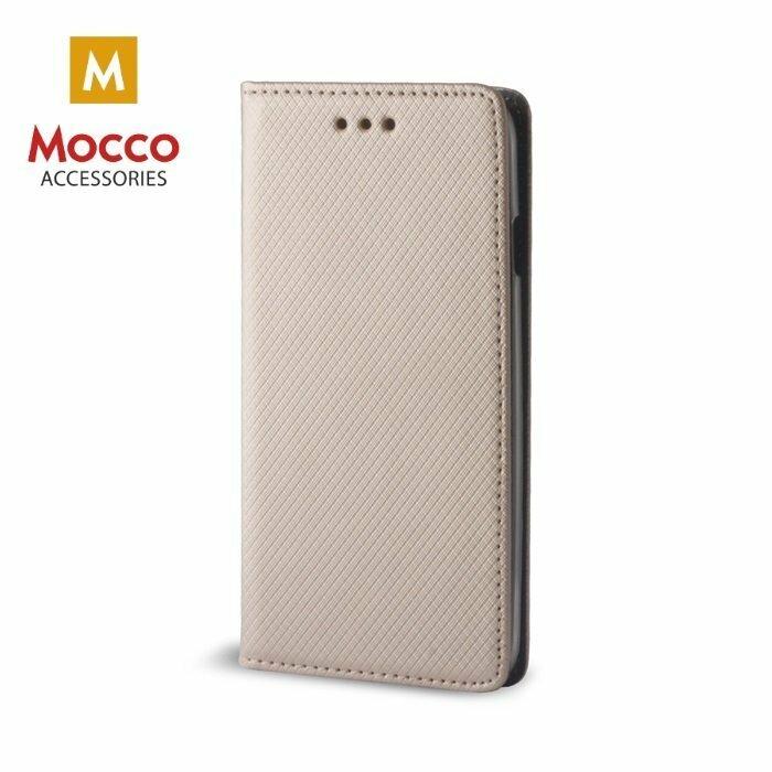 Mocco Smart Magnet Book Case Grāmatveida Maks Telefonam Xiaomi Redmi Note 5A (Y1) Zeltains
