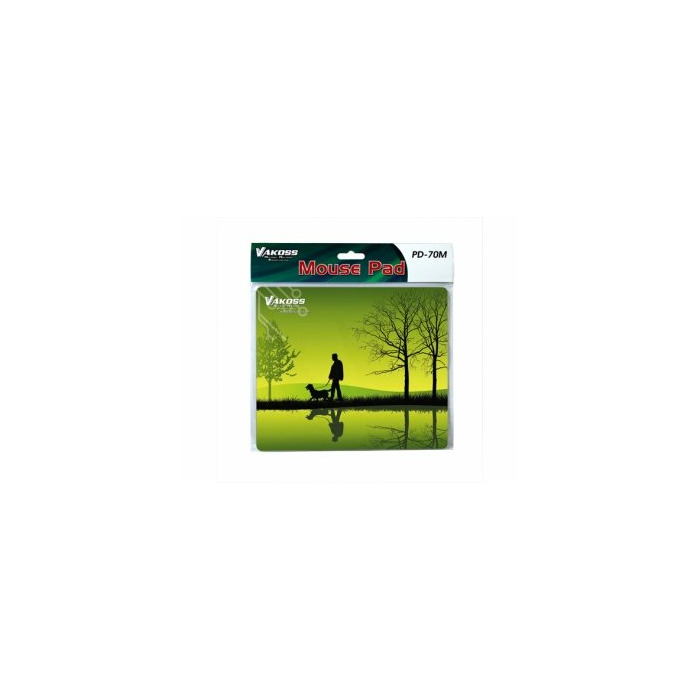 Vakoss PD-70M Black, Green mouse pad