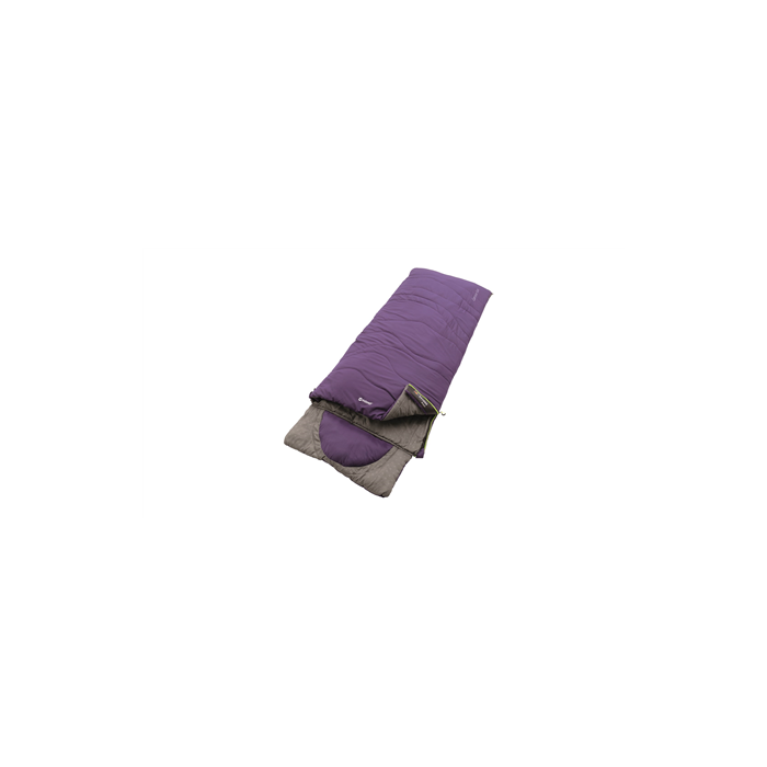 Outwell Contour Lux Eggplant Purple, Sleeping bag, 225x90 cm, 3/-3/-19 °C