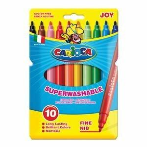 Flomāsteri JOY 10 krāsas,  kartona (slim) iepakojums, Carioca