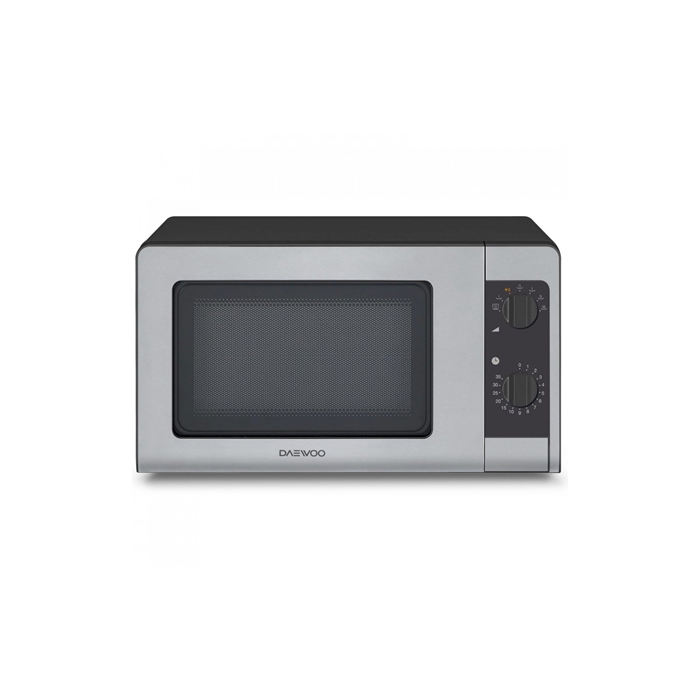 DAEWOO Microwave oven KOR-6647 20 L, Mechanical control, 800 W, Black/ grey, Free standing, Defrost function