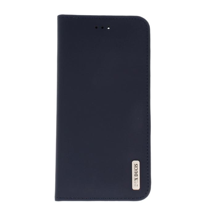 Dux Ducis Wish Magnet Case Grāmatveida Maks No Īstas Ādas Telefonam Samsung G965 Galaxy S9 Plus Zils