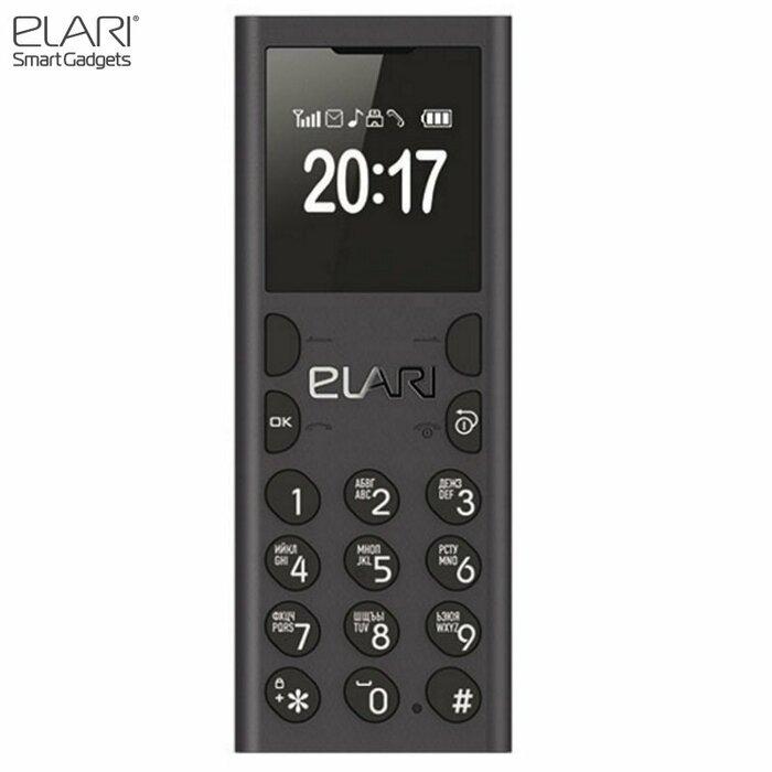 Elari NanoPhone C Super Slim BT synhronized Mobile Phone GSM SIM/MicroSD RUS Black