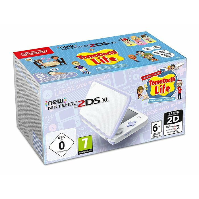 New 2DS XL White/Lavender incl. Tomodachi Life