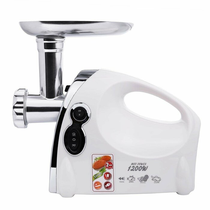 Meat grinder Saturn ST-FP7093K ( 1200 W ; White Silver )