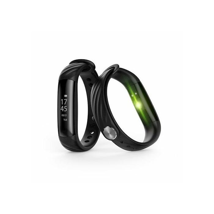 Forever SB-230 Smart Pulkstenis - Aproce Bluetooth Sporta Aktivitātes Trekeris ar regulējamu silikona siksniņu Melns