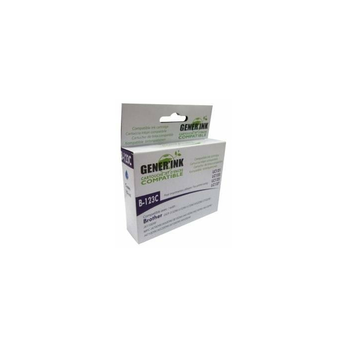 Tintes kasete GenerInk Brother LC123/125 Cyan DCPJ132W/152W/MFCJ4410DW/4510DW10ml