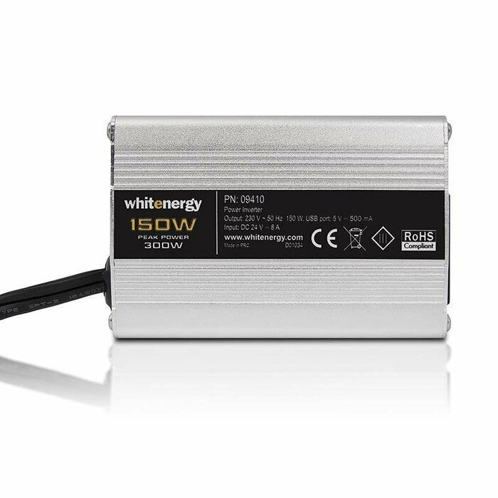 Whitenergy Power Inverter DC/AC from 24V DC to 230V AC 150W, USB