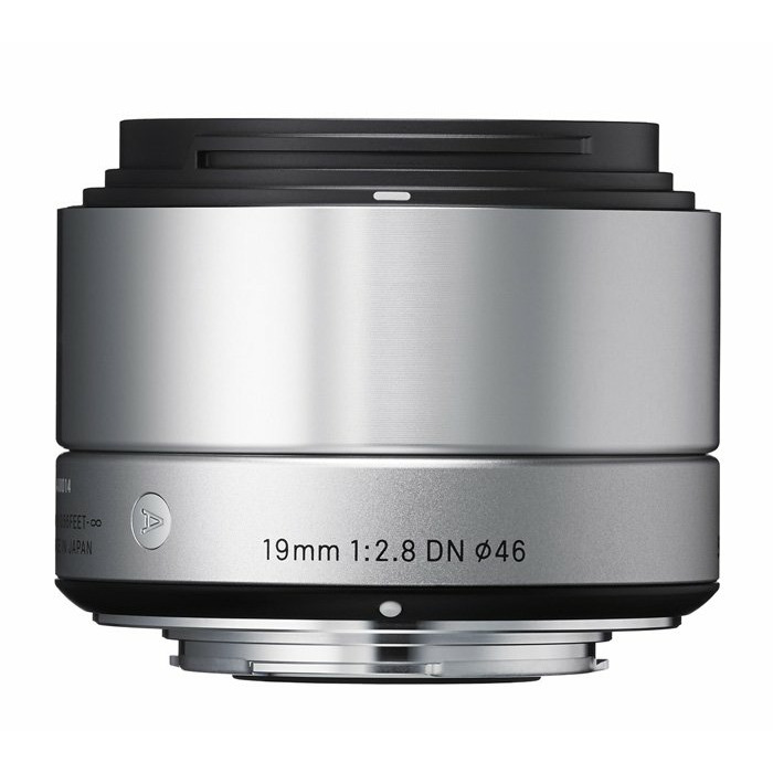 Sigma 19mm f/2.8 DN Art lens for Sony, silver