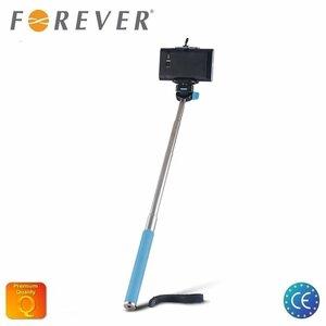 Forever MP-300 Selfie Stick 95cm - Universāla stiprinājuma statīvs bez Pults Zils