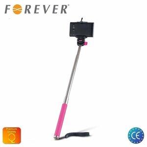 Forever MP-300 Selfie Stick 95cm - Universāla stiprinājuma statīvs bez Pults Rozā