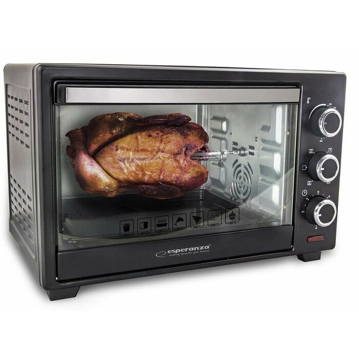 ESPERANZA EKO006 NAPOLI - MINI OVEN WITH CONVECTION & ROTISSERIE - 25l. 1600W