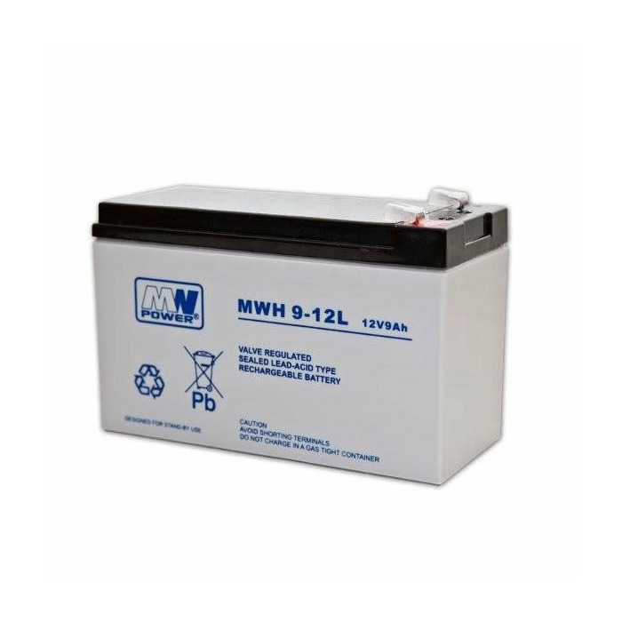 MW Power battery 12V/9Ah 6-9 years Faston 250