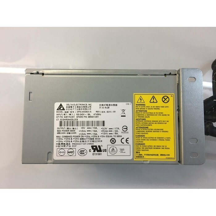 HP POWER SUPPLY 460W NON HOT PLUG FOR HP PROLIANT ML350E G8 (DPS-460DB-6-HP)