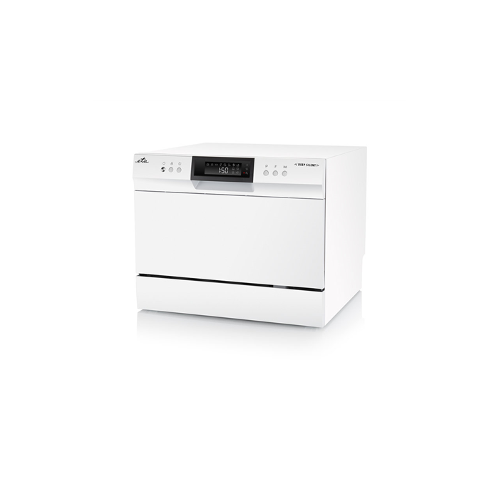 ETA Dishwasher ETA138490000 Free standing, Width 55 cm, Number of place settings 6, Number of programs 8, A+, Display, AquaStop function, White