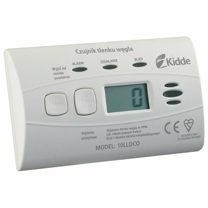 Carbon monoxide alarm with built-in battery 10LLDCO