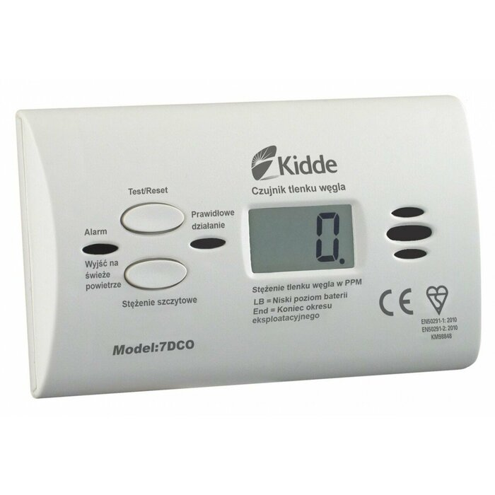 Carbon monoxide alarm display 7DCO