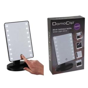 DomoClip Black, Sensor Light Mirror, 16 cm