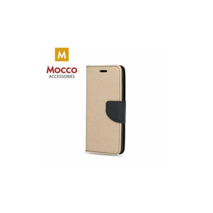 online store d6268 5dde5 Mocco Fancy Book Case For Redmi Note 5 / Redmi 5 Plus Gold - Black