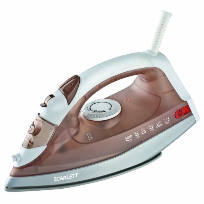 Scarlett SC-135S Dry & Steam iron Brown, White 1600 W