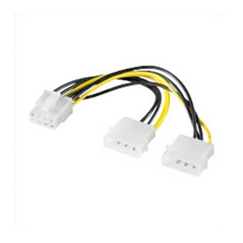 Internal power cable 2 x 5.25 male> PCI Express 8-pin