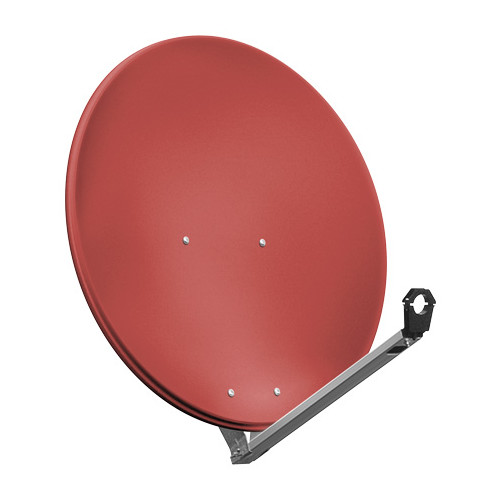 Goobay SAT Spieg. 80er Alu satellite antenna 10.7 - 12.75 GHz Red