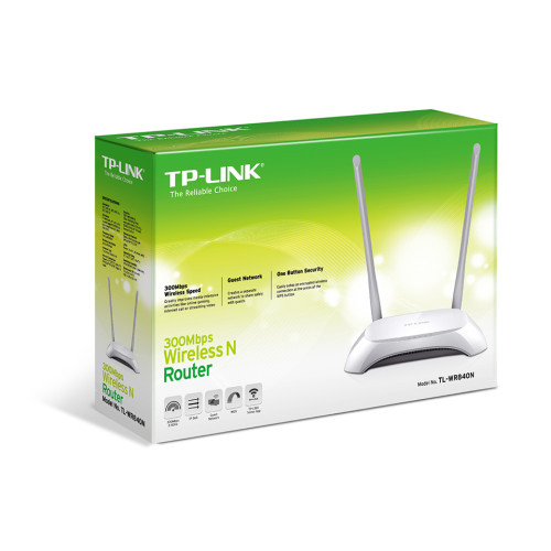TP-LINK TL-WR840N wireless router Single-band (2.4 GHz) Fast Ethernet Grey, White