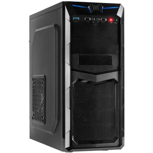 Chassis INTER-TECH GM-C11 Black Midi Tower, ATX, 2xUSB2.0, 1xUSB3.0, HD-audio, PSU optional