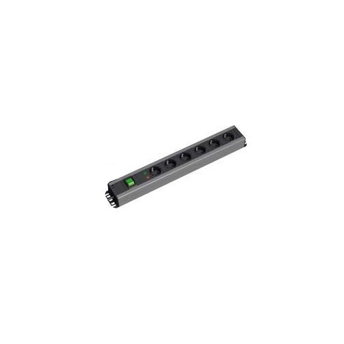Bachmann 300.007 power extension 2 m 7 AC outlet(s) Indoor Black,Grey