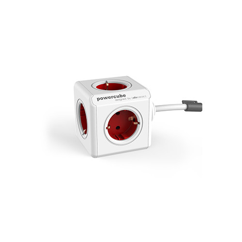 Allocacoc PowerCube power extension 3 m 1 AC outlet(s) Indoor Red,White