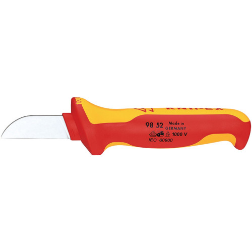 Knipex 98 52 utility knife Fixed blade knife Orange,Red