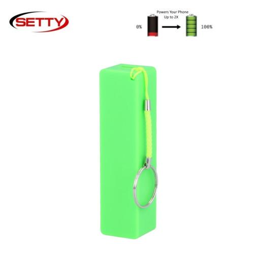 Setty Mini Cube Power Bank 2000mAh Universāla Ārējas uzlādes batereja 5V 1A + Micro USB Kabelis + Rokas siksniņa Zaļš