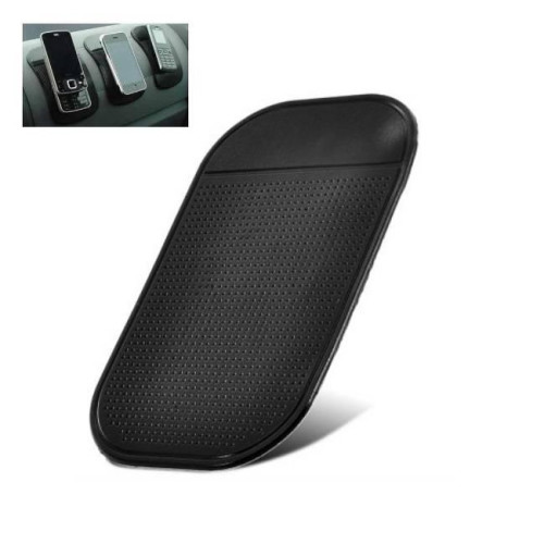 HQ Car Panel Nano Gel Sticky Pad - Phone / Any Mobile Device Holder Black (EU Blister)