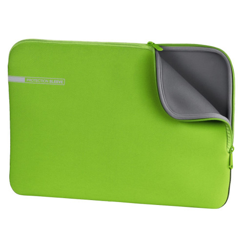 "Hama Neoprene 39.6 cm (15.6"") Sleeve case Green,Grey"