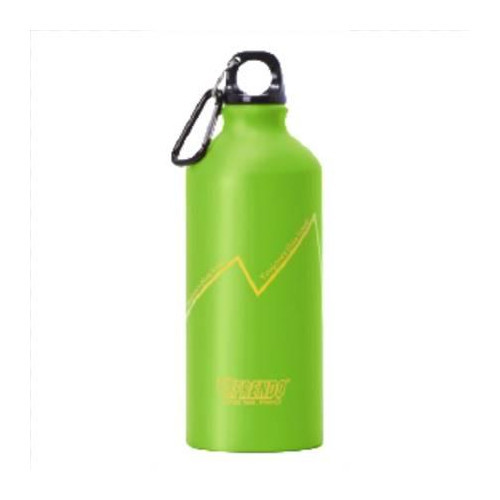 Frendo Rainbow aluminium water bottle 0.6L with carabiner, Green