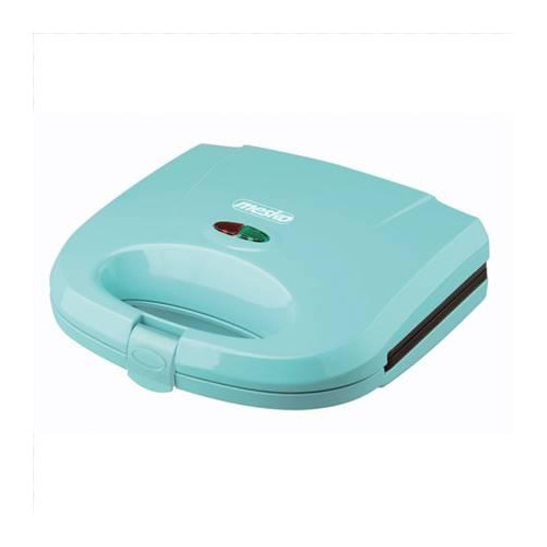 Mesko MS 3029b Sandwich maker, 750W, Non-stick plated, Ready light indicator, Slide-resistant feet, Blue