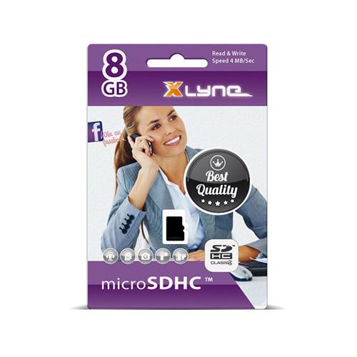 xlyne 7408000 memory card 8 GB MicroSDHC Class 4